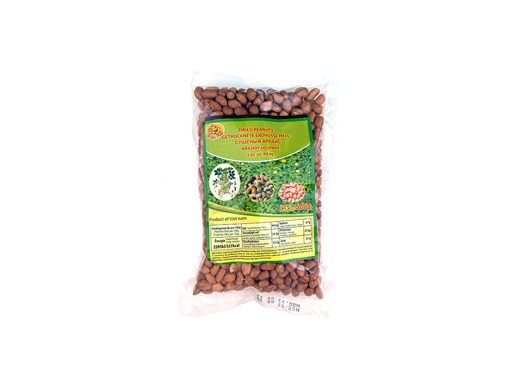 Dried Peanuts Arašídy Loupané 500g VNM