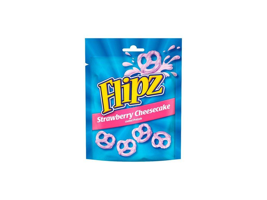 Flipz Strawberry Cheesecake Coated Pretzels 90g UK
