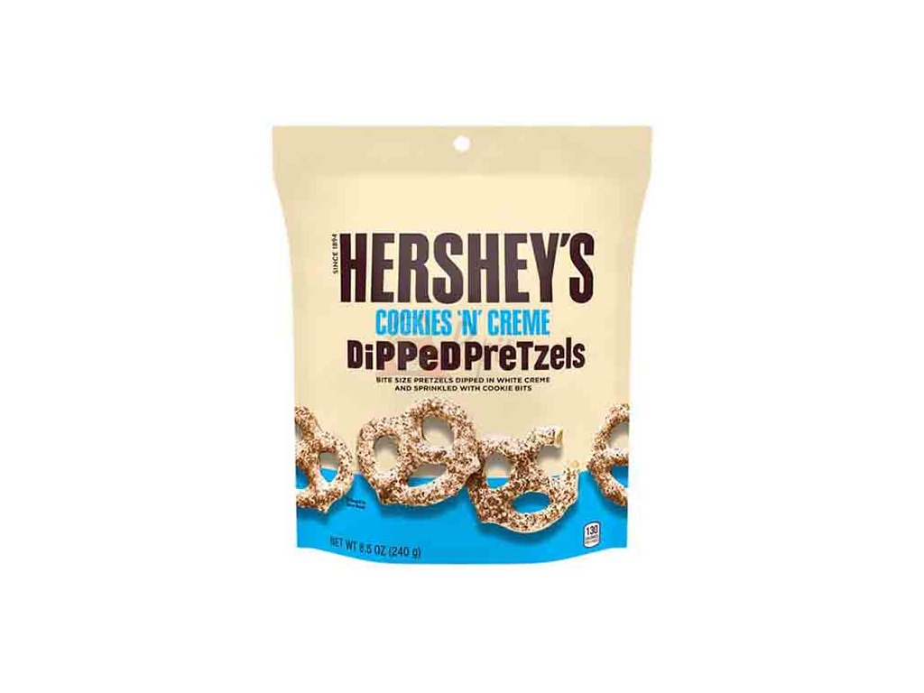 Hershey's Cookies 'n' Creme Dipped Pretzels 240g USA