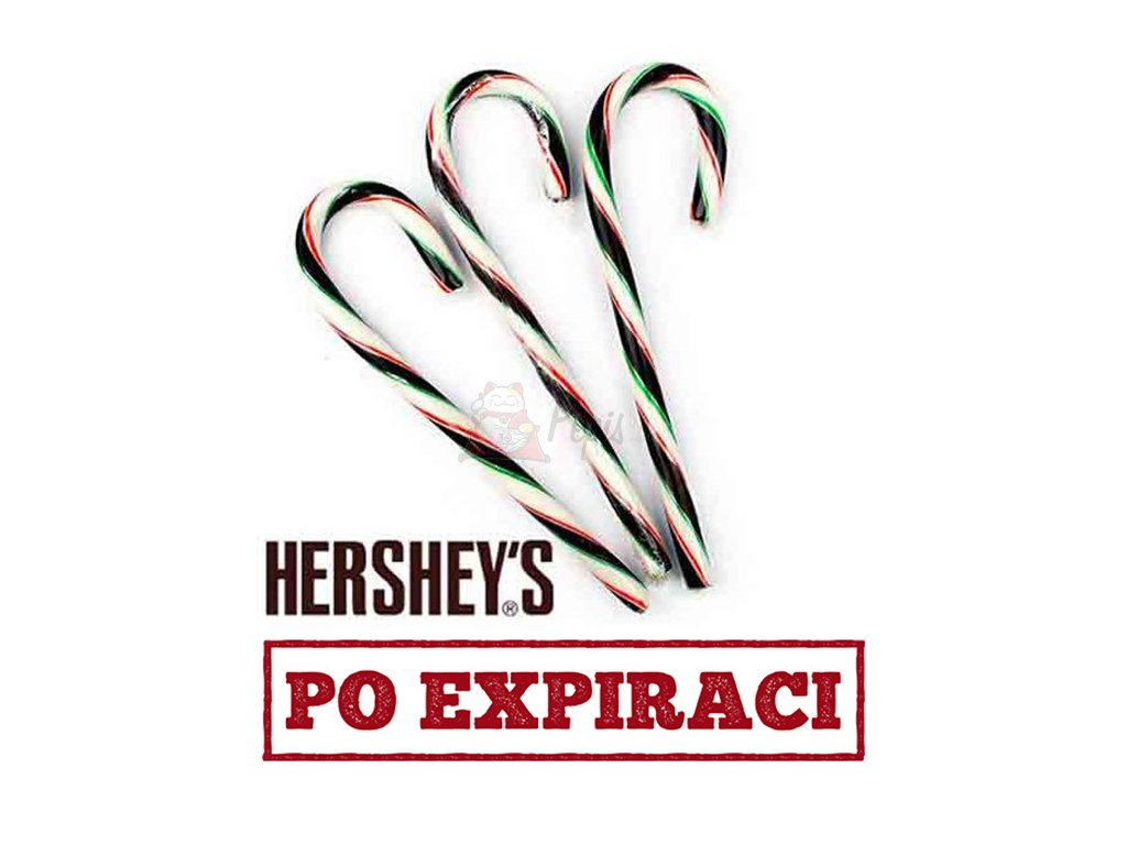 Hershey's Chocolate Mint Candy Canes 1ks 12.5g USA