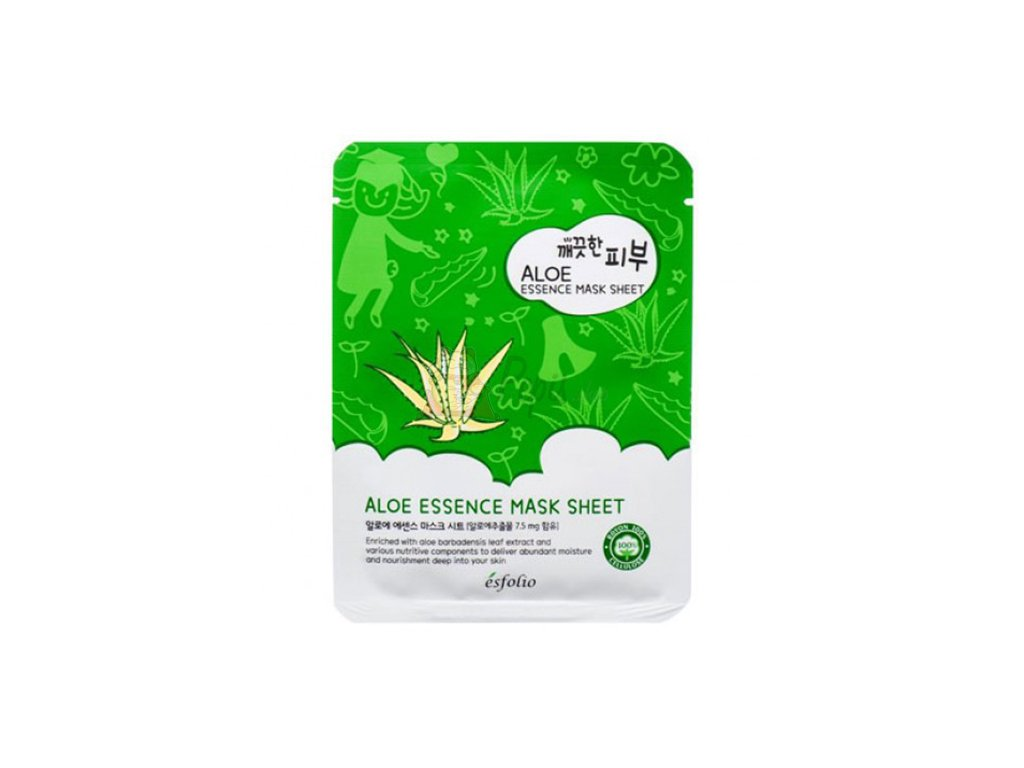 ESFOLIO Pure Skin Aloe Essence Sheet Mask 25g KOR