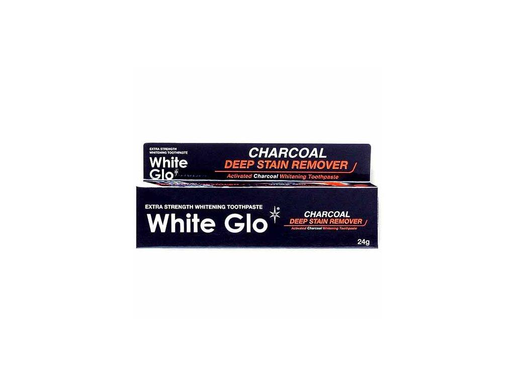 WHITE GLO Zubní Pasta s Aktivním Uhlím Charcoal 24g AUS