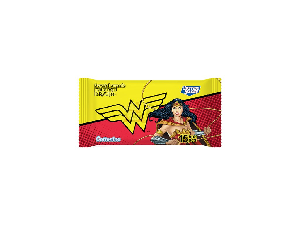 COTTONINO Wonderwoman Vlhčené Ubrousky 15ks EU