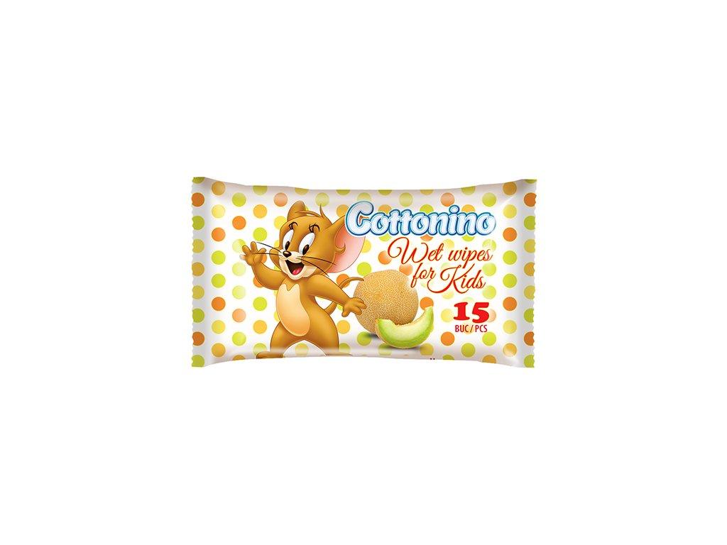 COTTONINO Tom Jerry Vlhčené Ubrousky Meloun 15ks EU