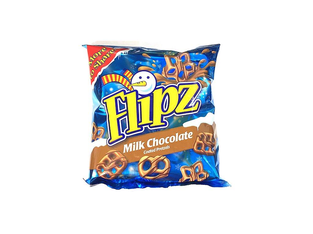 Flipz Preclíky v Mléčné Čokoládě Vánoční Edice 160g UK