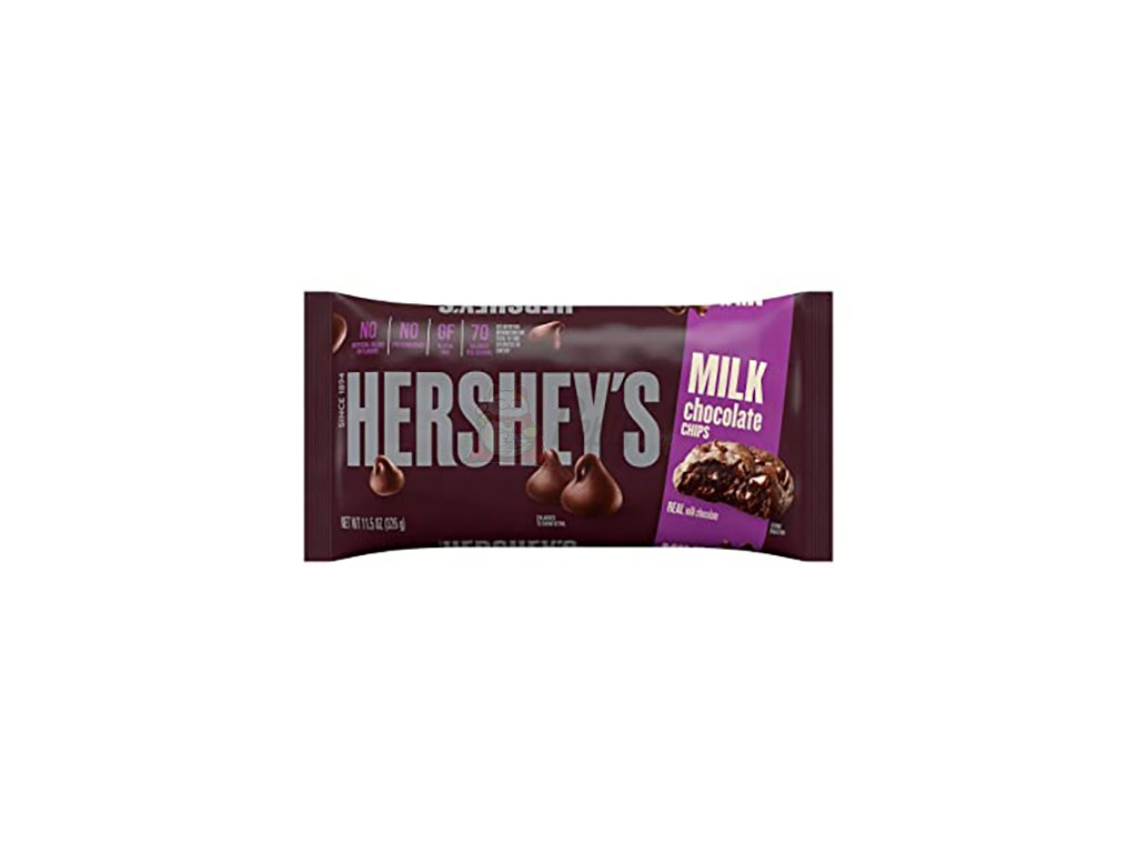 Hershey's Milk Chocolate Chips Mini Čoko Čipsy Na Pečení Sušenek 326g USA