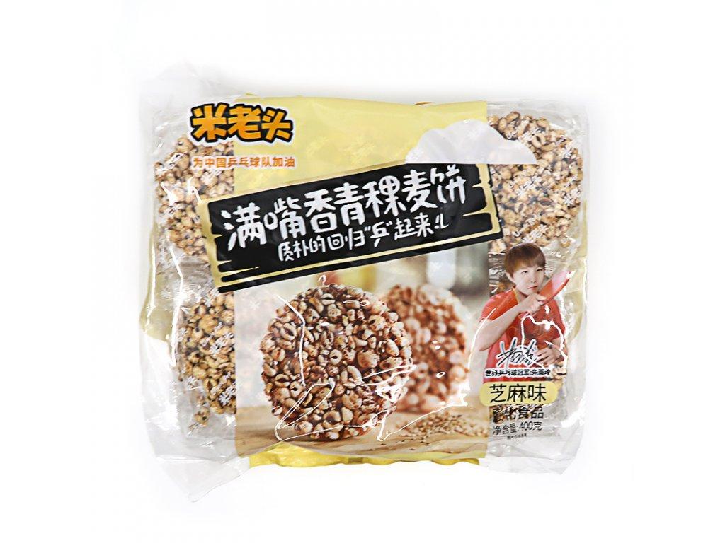 Sezamové sušenky z ječmenné pšenice - PEPIS.SHOP