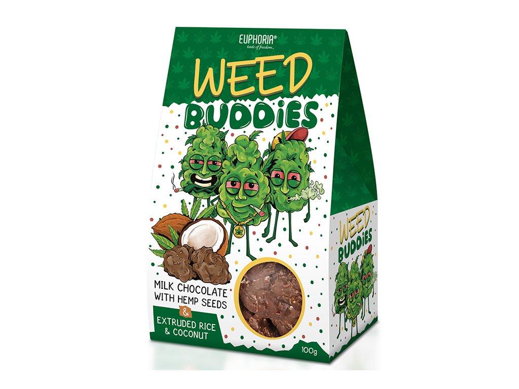 Euphoria Sušenky Weed Buddies Milk Chocolate 100g EU