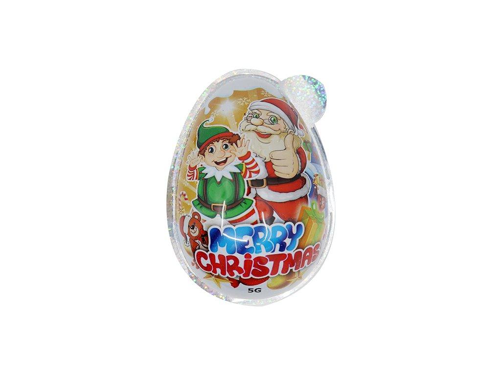 Velké Svítící Vánoční Vajíčko S Překvapením 1 ks CHN