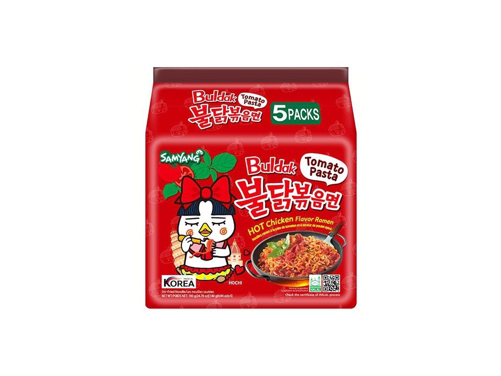 Samyang Pálivý Kuřecí Ramen Tomato Pasta Balení (5x140g) KOR