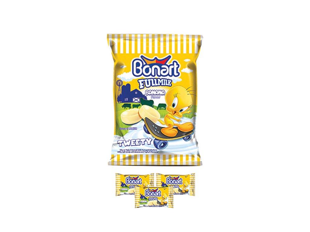 Bonart Tweety Fullmilk Calcium Banana Bonbony 70g TUR