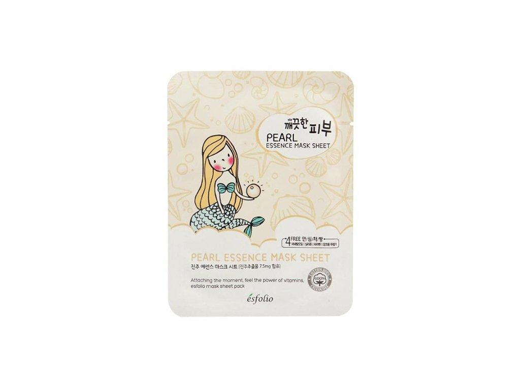 ESFOLIO Pure Skin Pearl Essence Sheet Mask 25g KOR