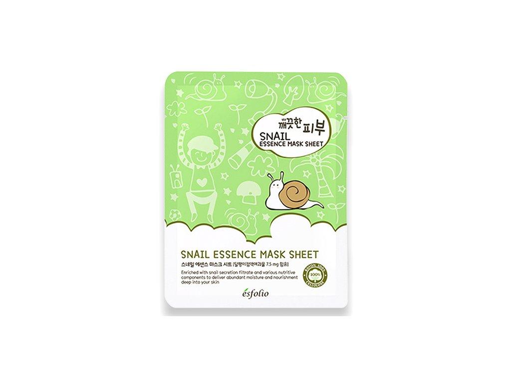 ESFOLIO Pure Skin Snail Essence Sheet Mask 25g KOR