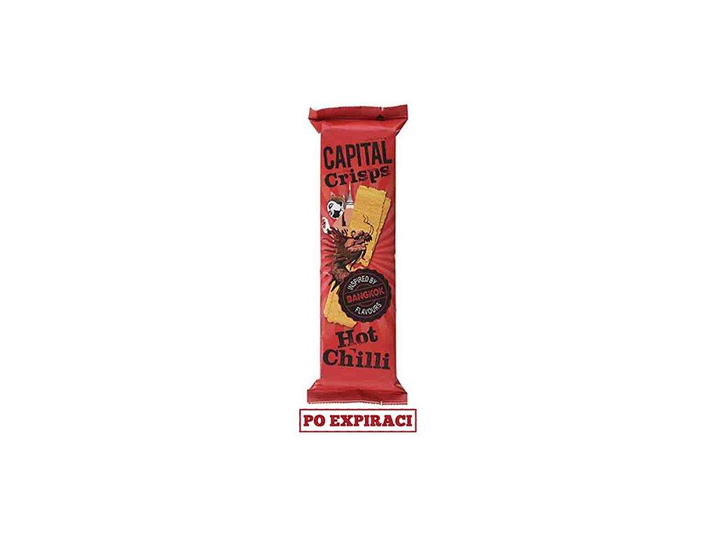 Capital Crisps Bangkok Bramborové Lupínky Hot Chilli 75g UK