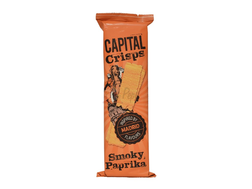Capital Crisps Bramborové Lupínky Smoky Paprika 75g UK
