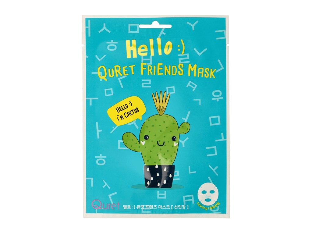 QURET Hello Friends Mask Sheet Kaktus 25g KOR