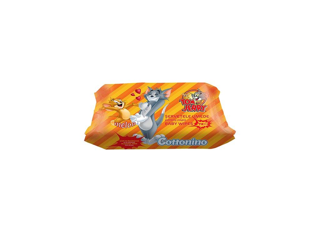 Cottonino Tom Jerry Vlhčené Ubrousky Melounové 72ks EU