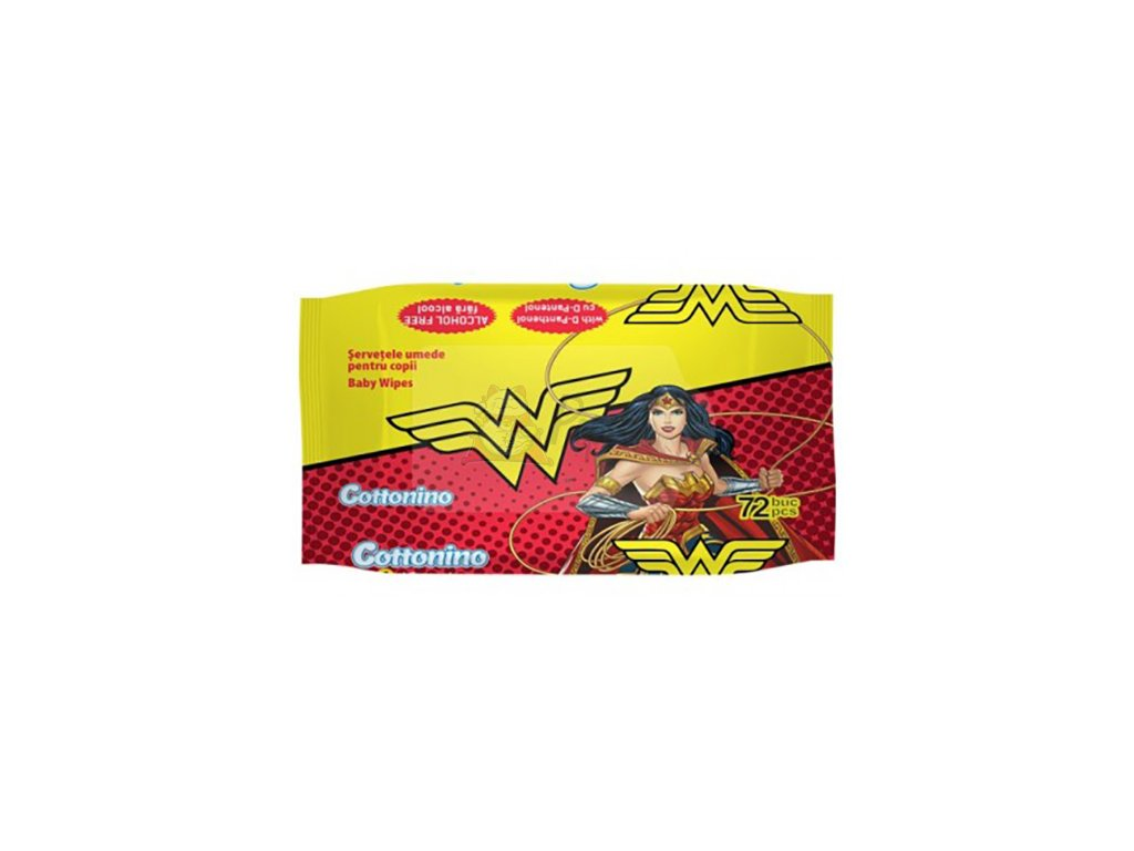 Cottonino Wonderwoman Vlhčené Ubrousky 72ks EU