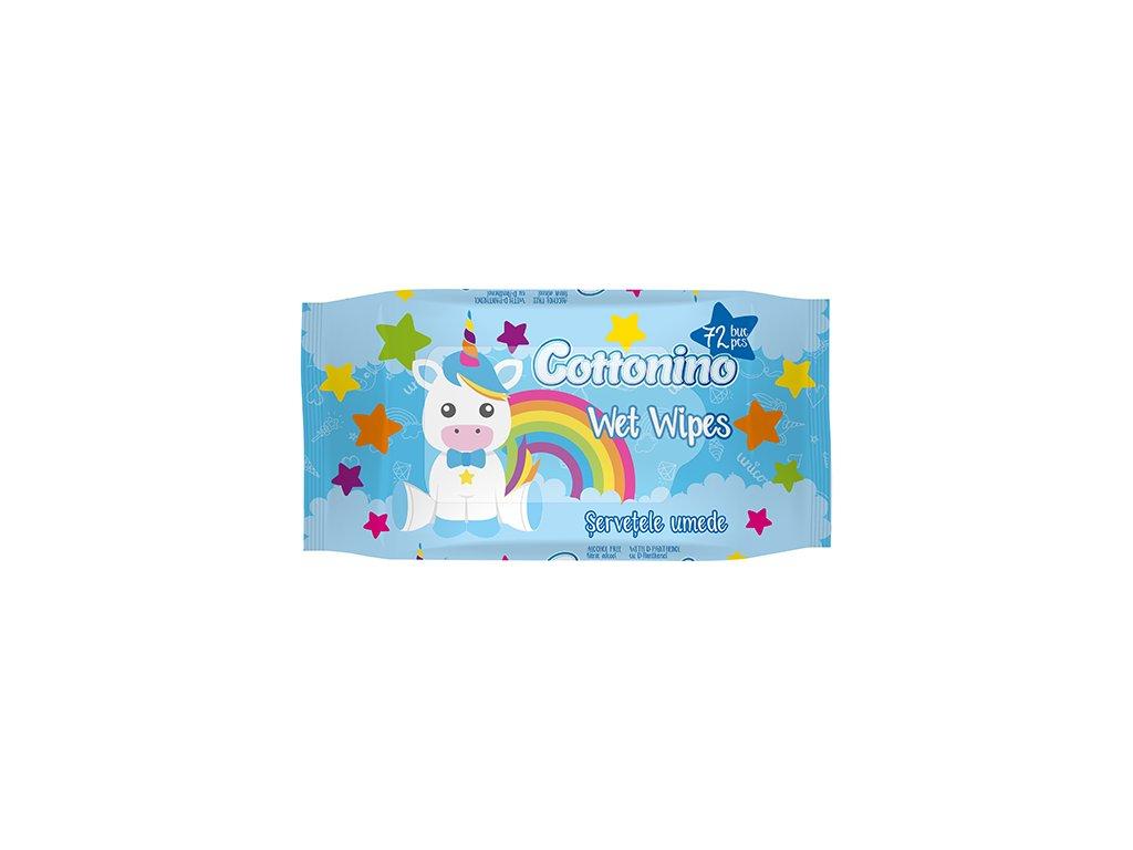 Cottonino Blue Unicorn Vlhčené Ubrousky Modré 72ks EU