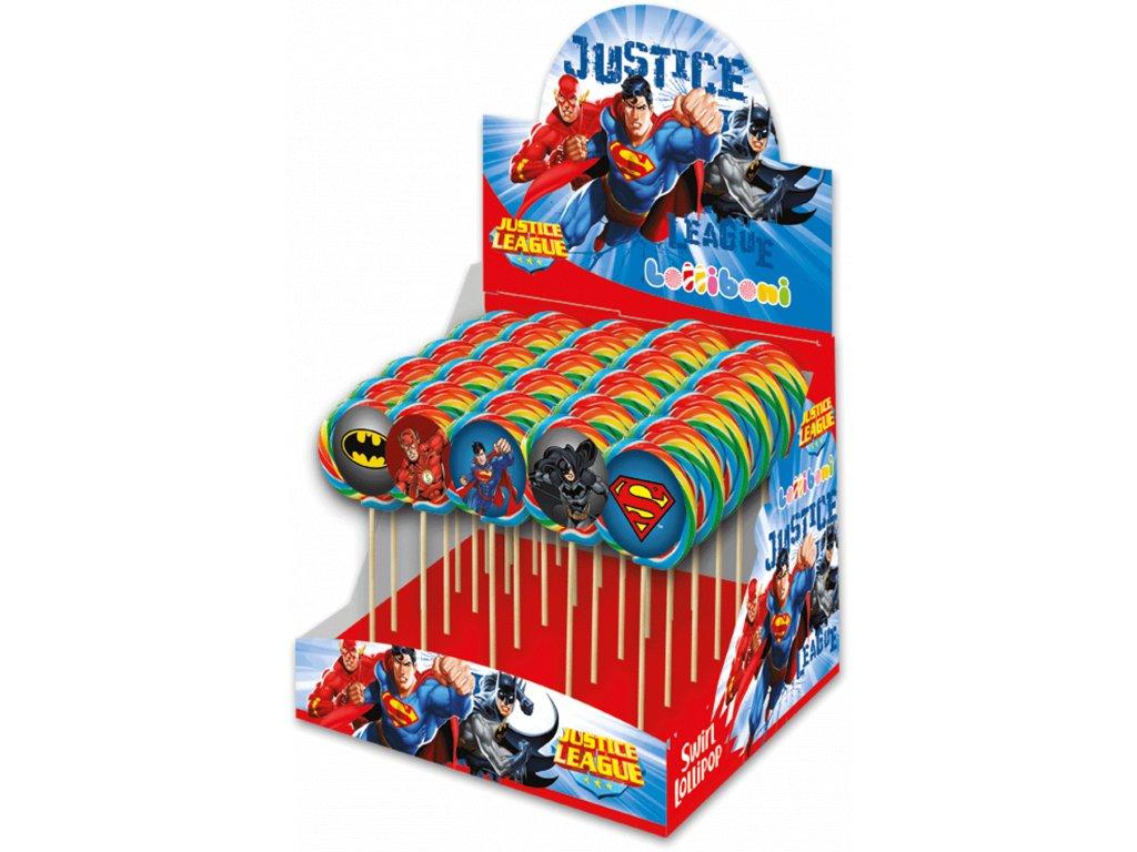 Justice League Lízátko s 3D Samolepkou 1ks 30g EU