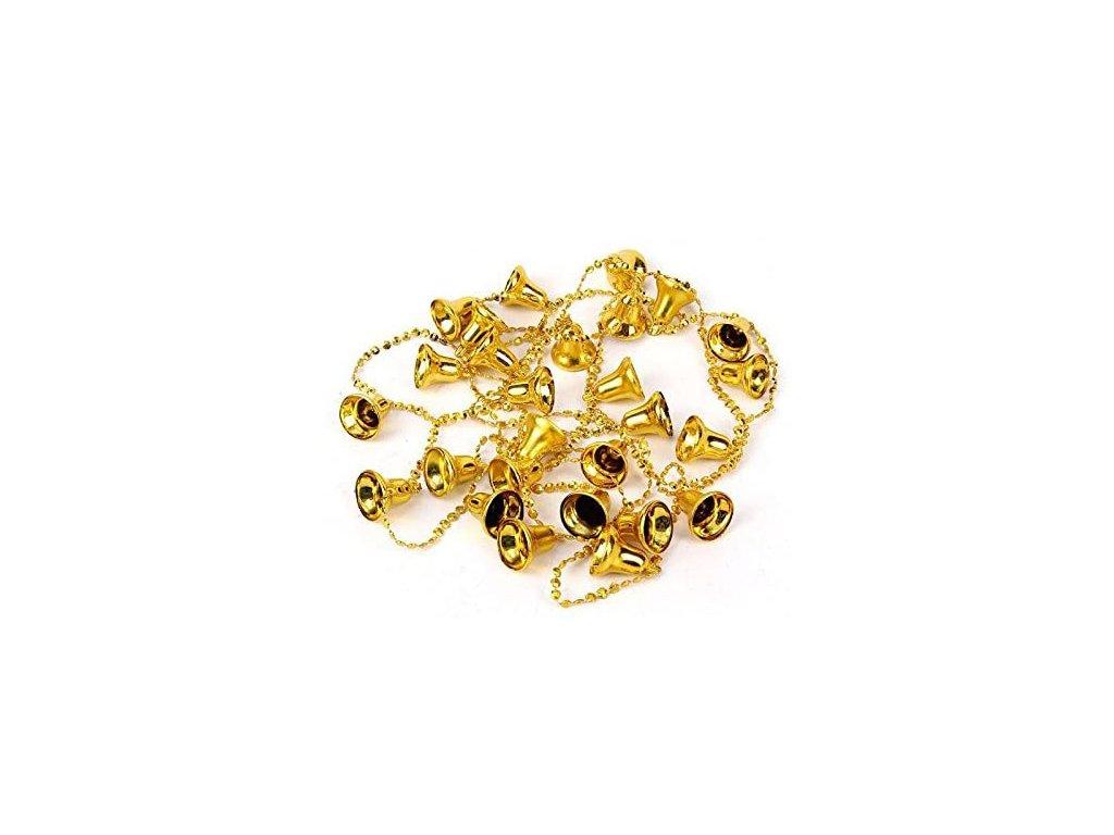 Dekorační Řetěz Zvonečky Zlaté 1,8m CHN 2