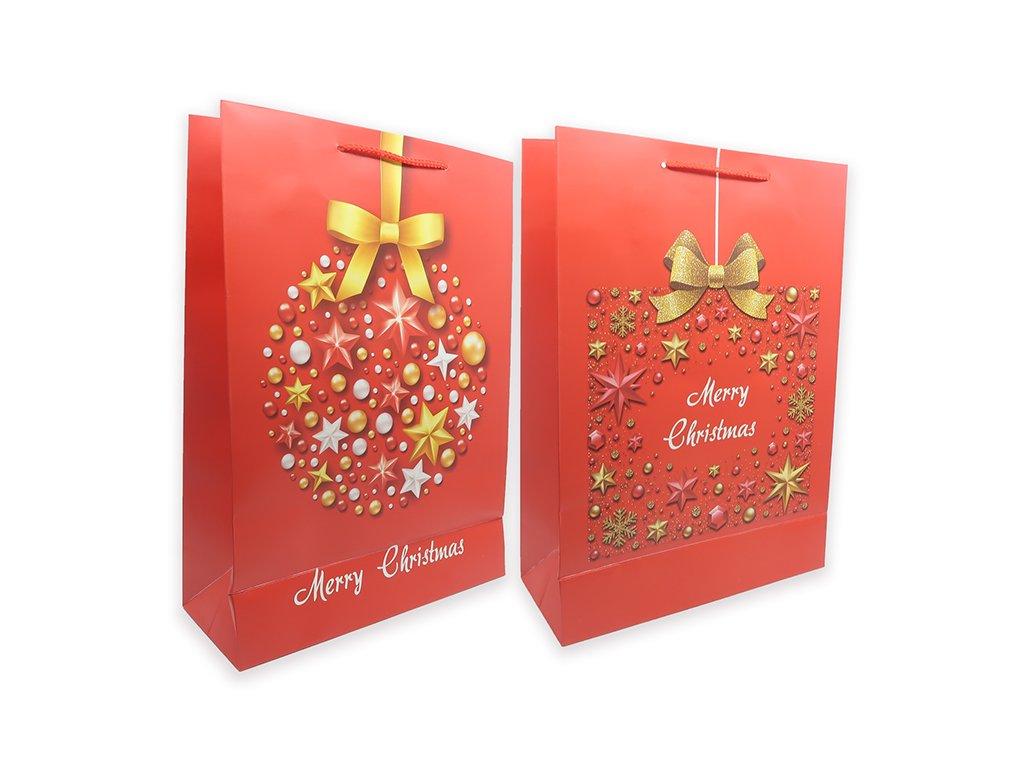 Vánoční Dárková Taška Ozdoba Náhodný Druh 42x30x12cm 1ks CHN