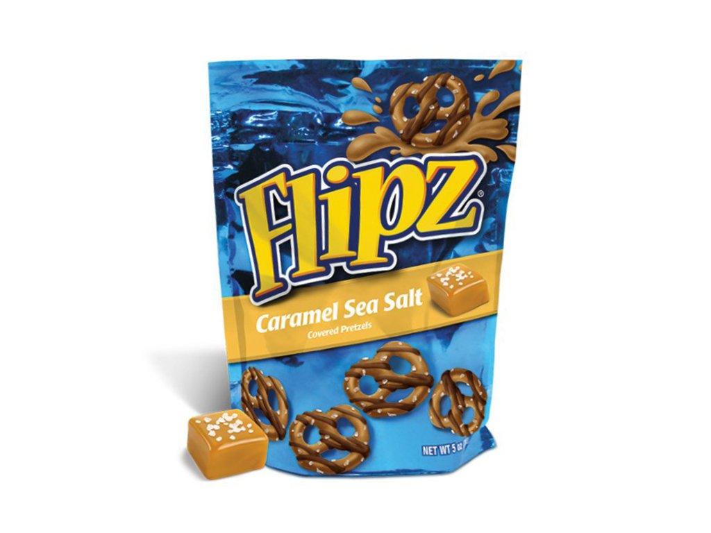 Flipz Caramel Sea Salt Pretzels 141g USA
