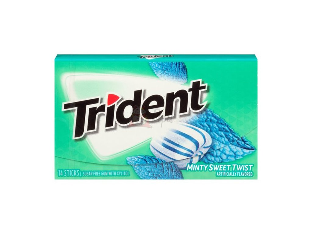 Trident Minty Sweet Twists Žvýkačky 27g USA