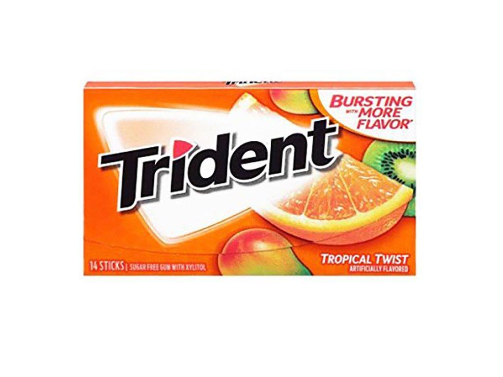 Trident Tropical Twist Žvýkačky 27g USA