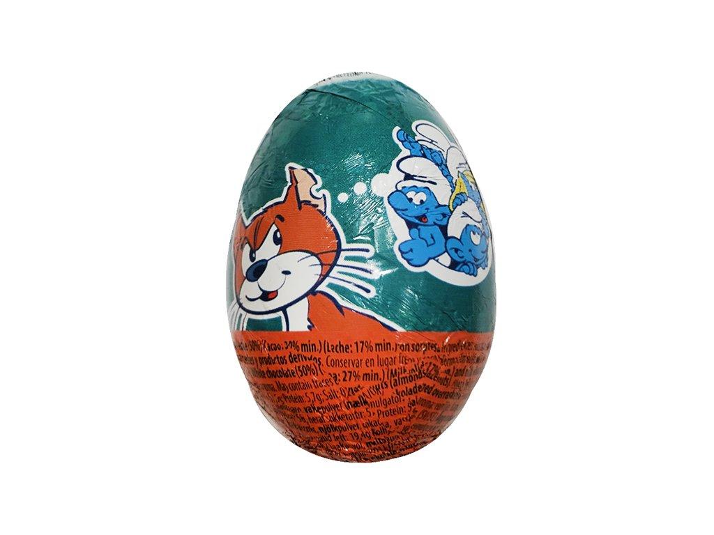 Pitufos Čokoládové Vajíčko s Překvapením Šmoulové Náhodný Druh 20g EU