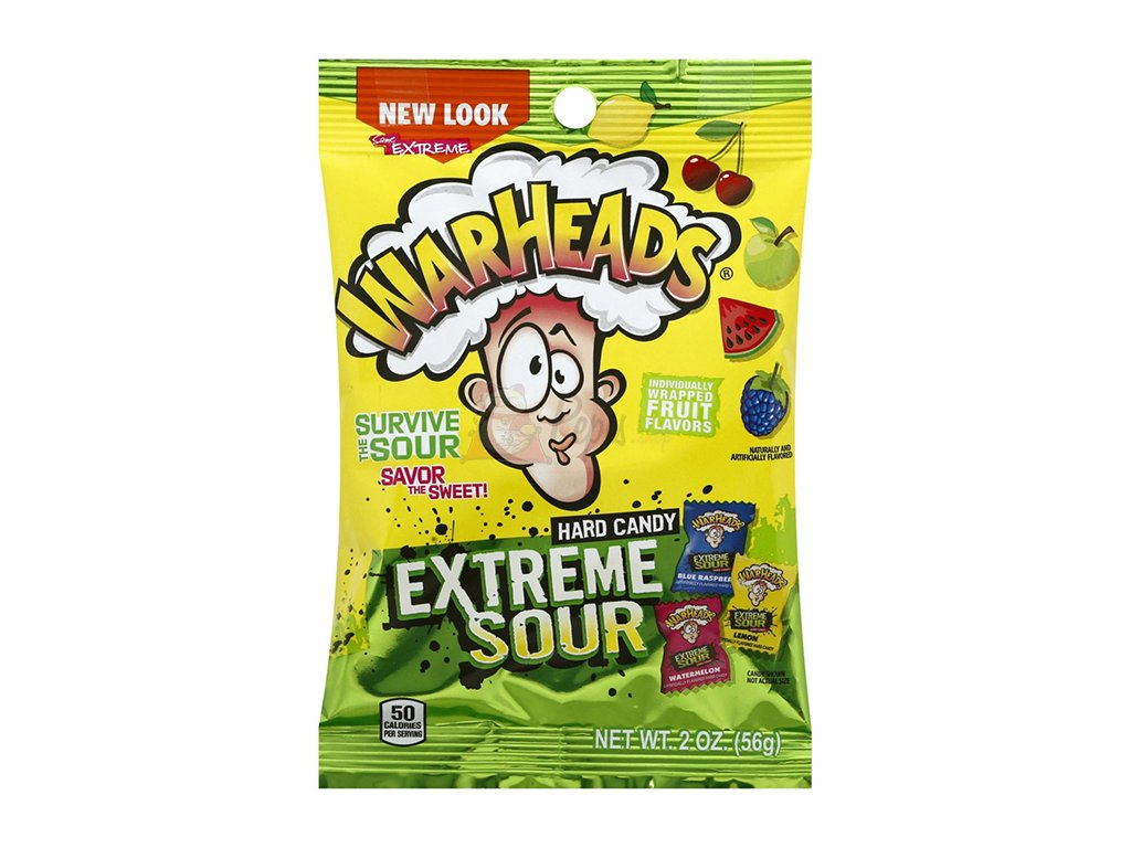 Warheads Extreme Sour Candy 56g USA
