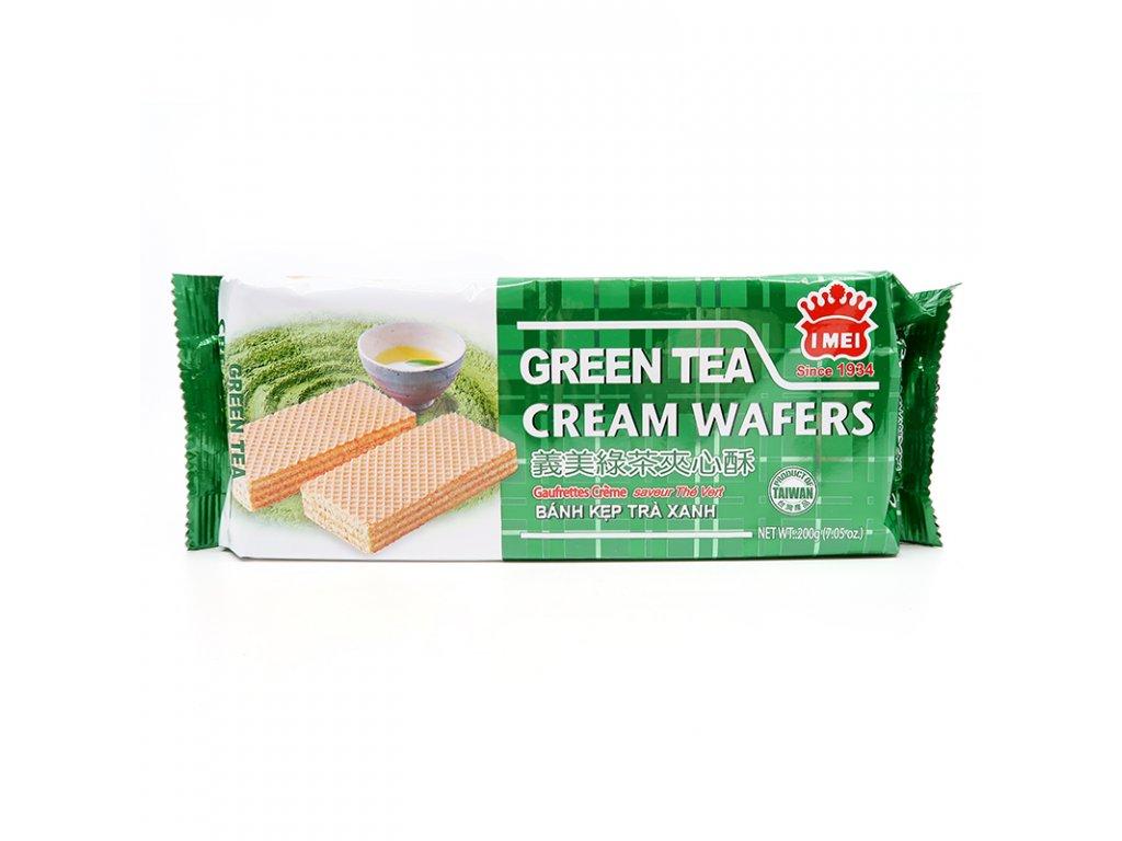 Krémová vafle s náplní zelený čaj - PEPIS.SHOP