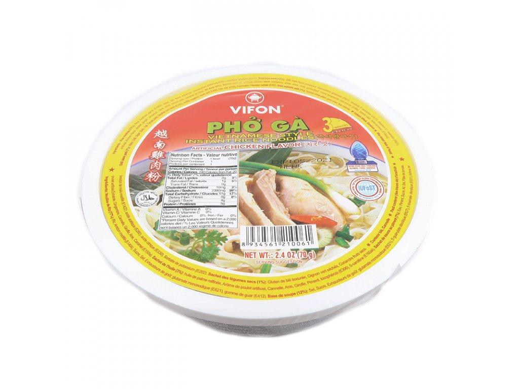 Instatní (Pho Ga) rýžové nudle v misce kuřecí - PEPIS.SHOP
