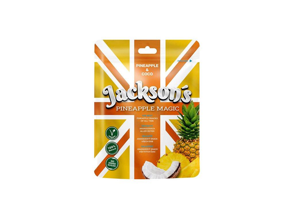 Jackson s Pineapple Magic Sušené Ovocné Plátky 50g IND