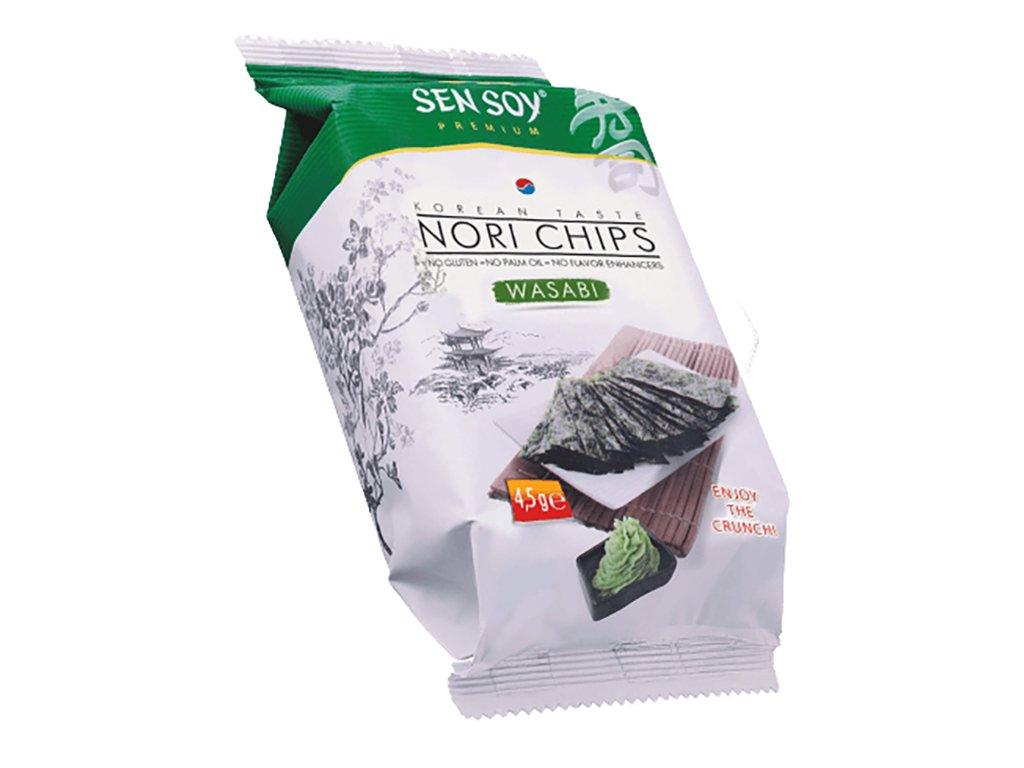 Sen Soy Koresjké Křupavé Řasy Nori Chips Wasabi 4,5g KOR