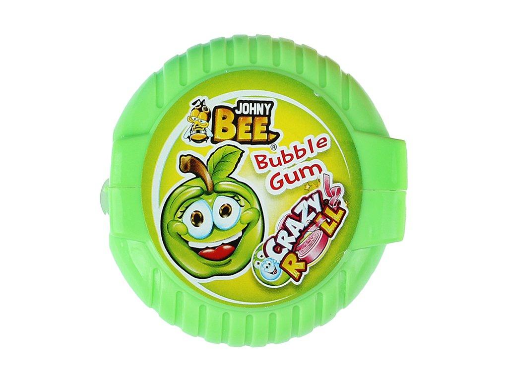 Johny Bee Crazy Roll Bubble Gum Jablko 18g CZE