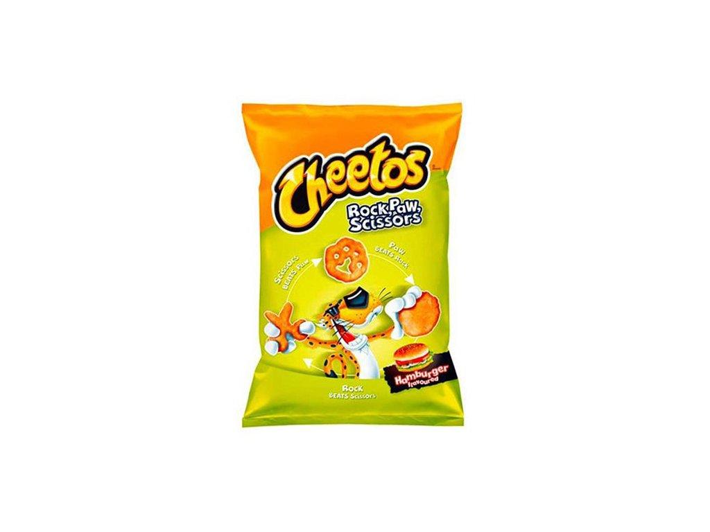 Cheetos Rock Paw Scissors Hamburger Flavoured 85g POL