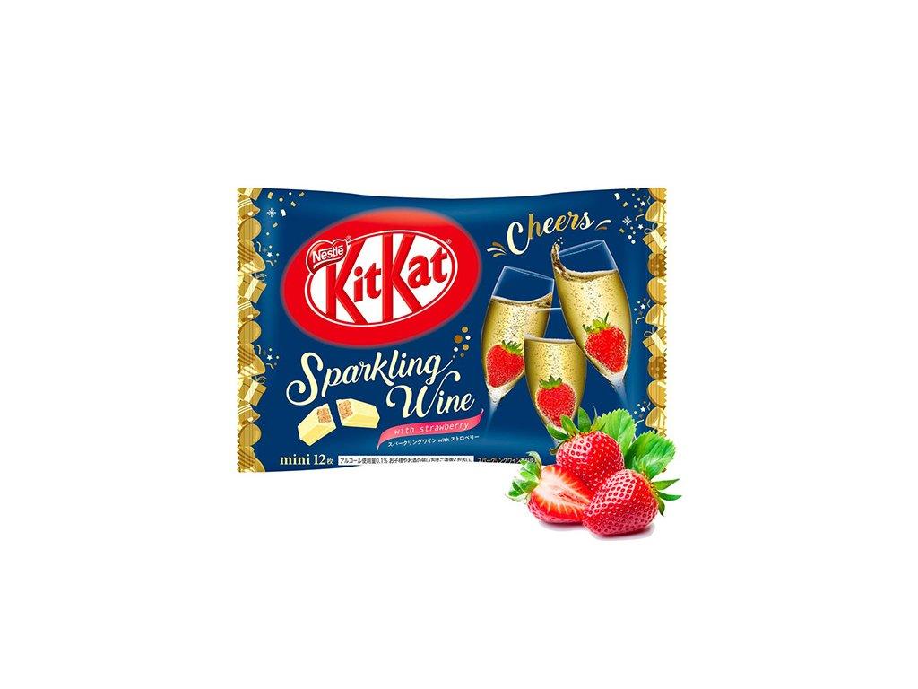KitKat Mini Sparkling Wine With Strawberry Balení 12 ks 118g JAP