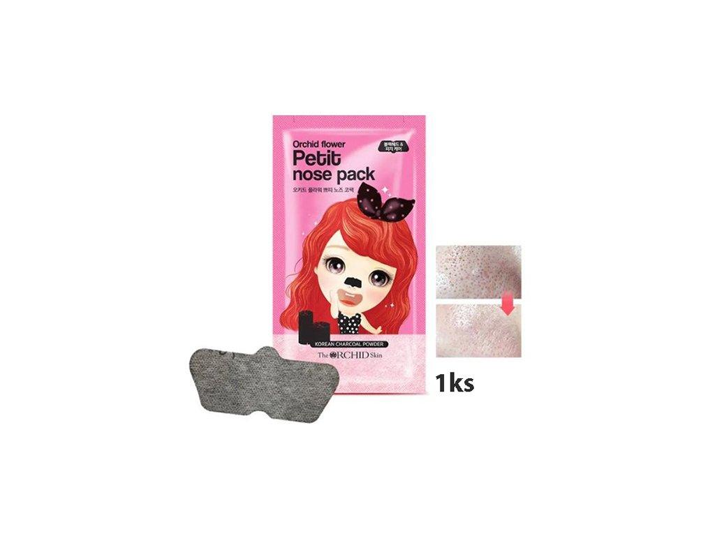The ORCHID Petit Nose Pack Pásek Na Černé Tečky s Aktivním Uhlím 1ks KOR