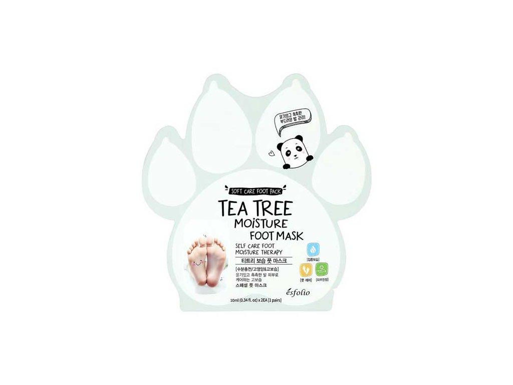 Esfolio Tea Tree Moisture Foot Mask Hydratující Maska Na Chodidla 10ml KOR