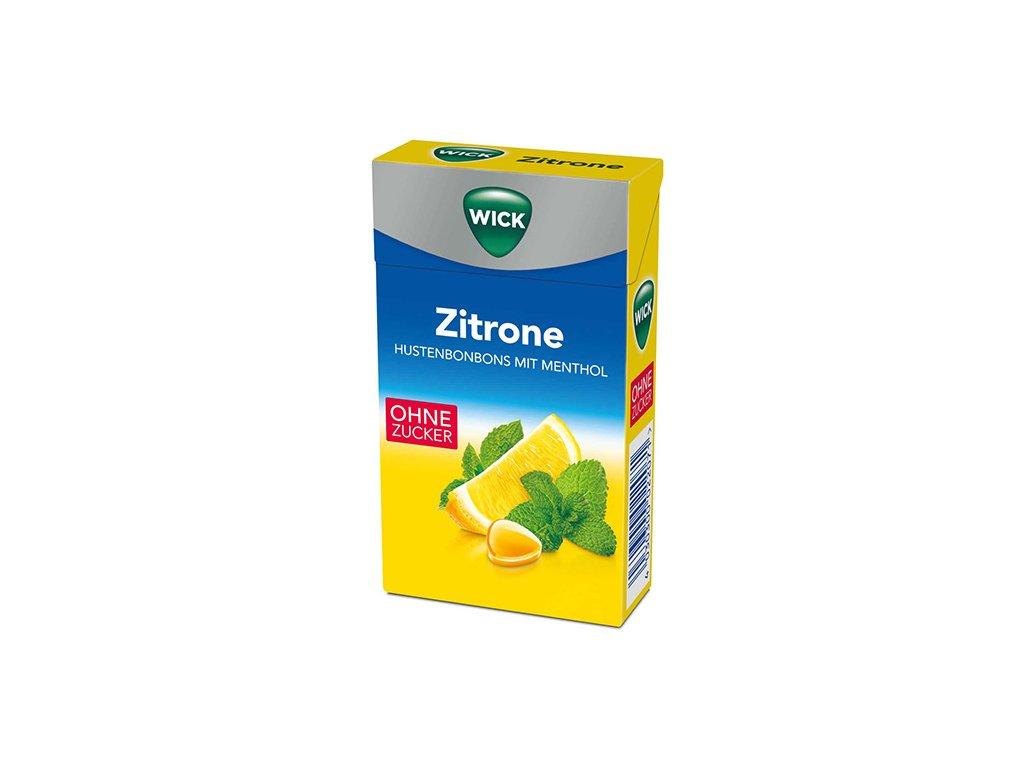 WICK Bonbóny Citron Bez Cukru 46g DEU