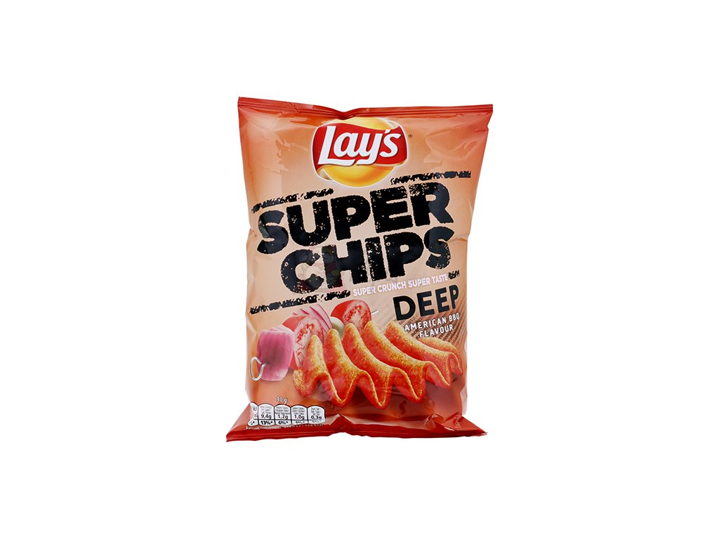Lay's Super Crunch Chips American BBQ 130g POL