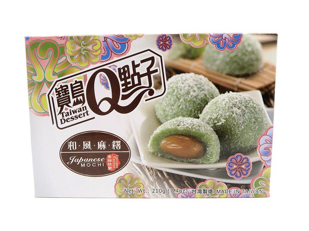 Mochi rýžové koláčky pandan a kokos - PEPIS.SHOP