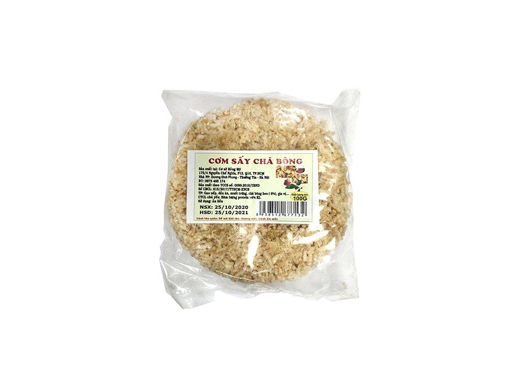 Pečená Rýže Se Sušeným Trhaným Masem Com Chay 100g VNM