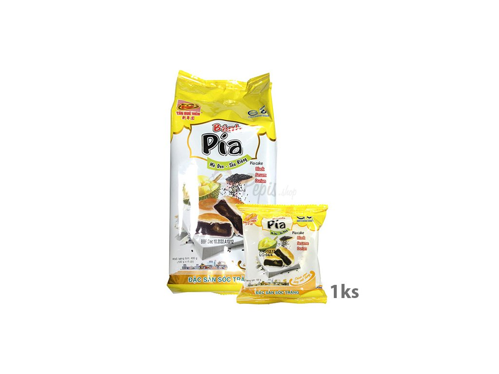 Bánh Pia Koláček Černý Sezam Durian 1ks 100g VNM