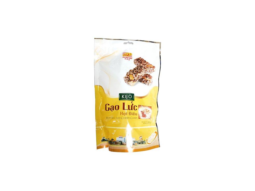 Keo Gao Luc Hat Dieu Brown Rice Cashew Candy Balení 250g VNM