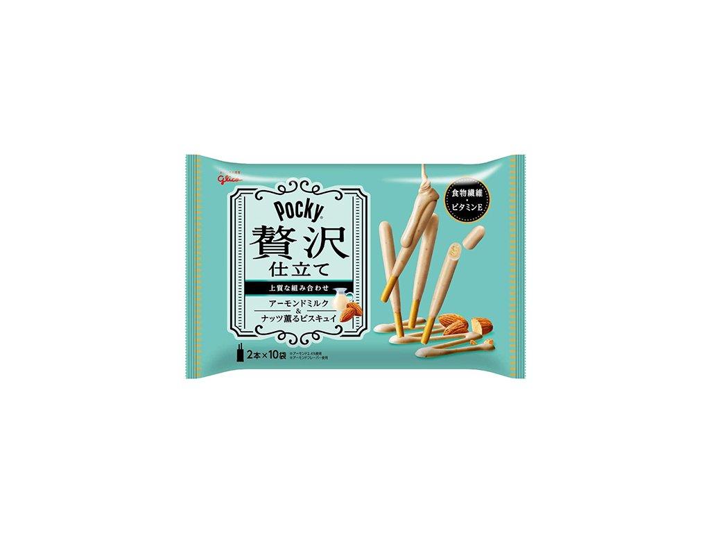 Glico Pocky Zeitaku Shatate Almond Milk Balení (2x42.5g) JAP
