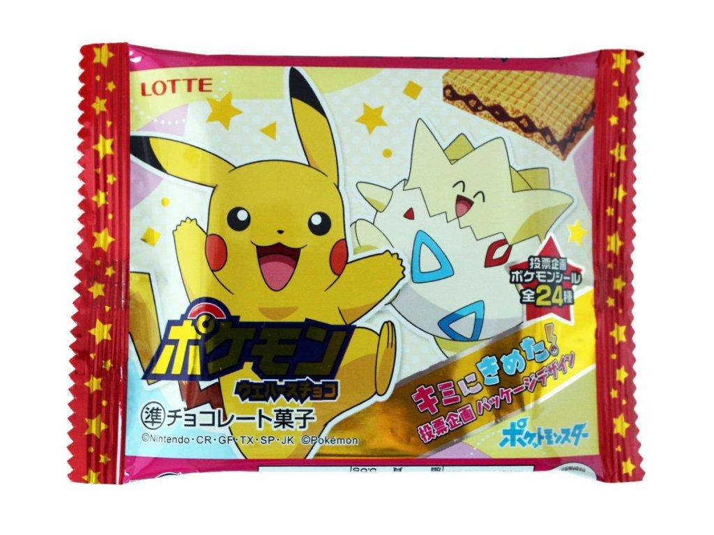 Pokemon Čokoládová Wafle 23g JAP
