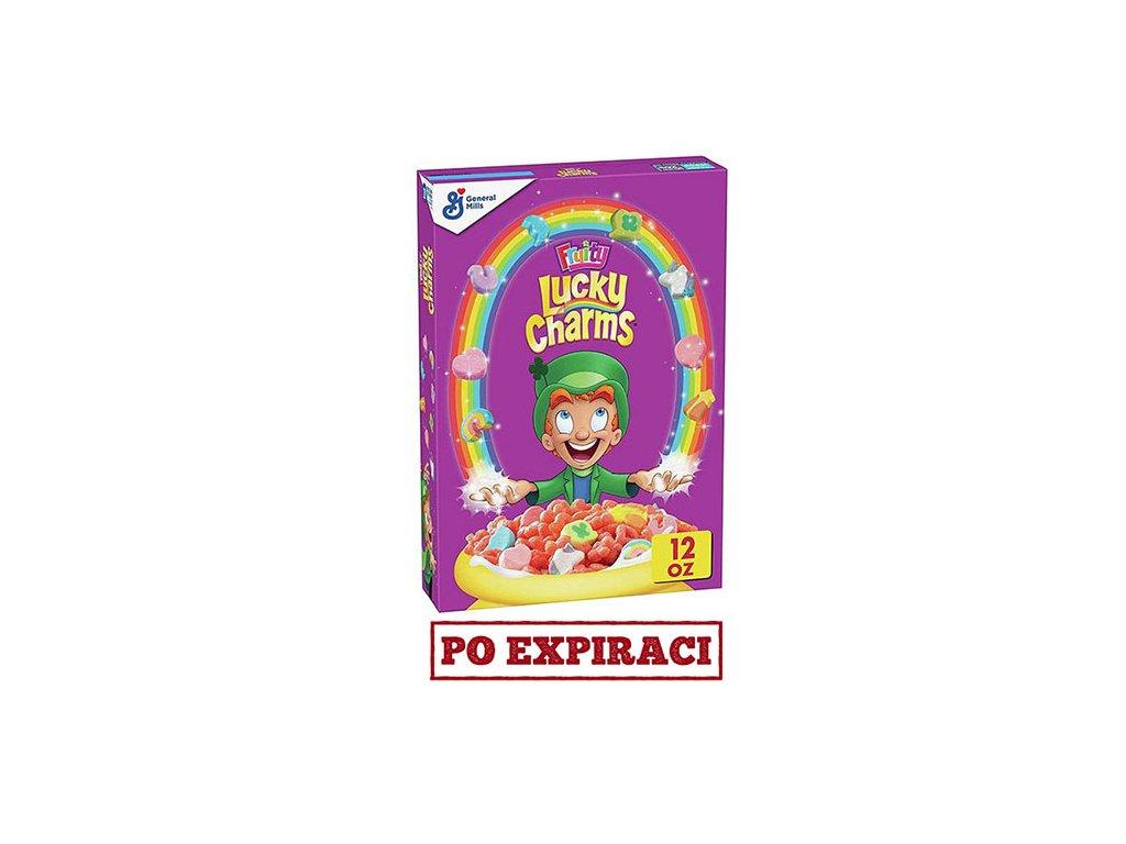 Lucky Charms Fruity Snídaňové Cereálie 340g USA