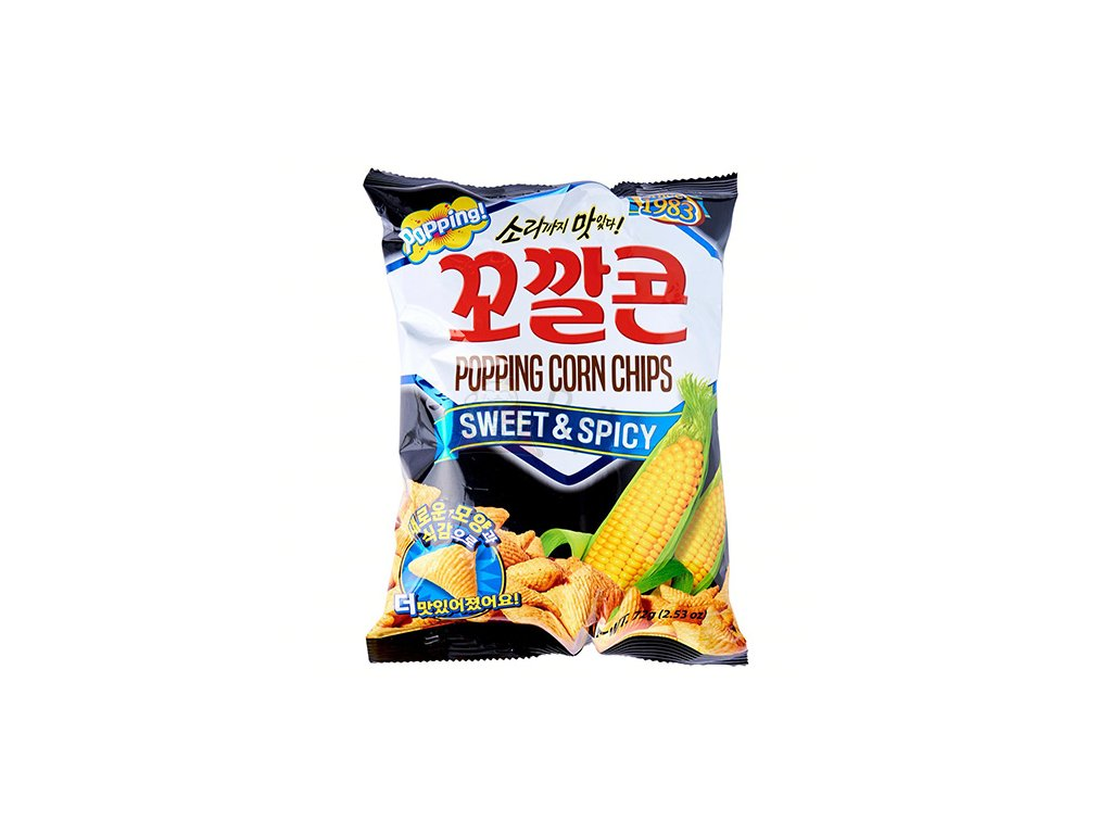 Lotte Popping Corn Chips Sweet Spicy 72g KOR